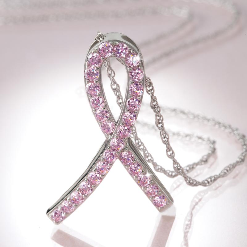 solidarity pink ribbon necklace 25035 stauer