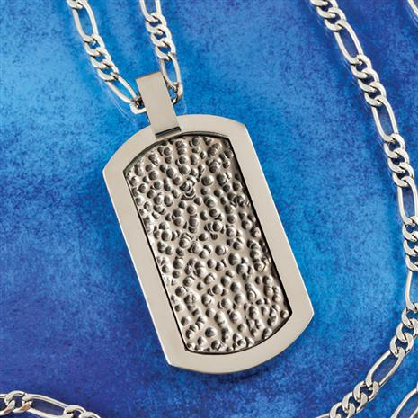 Dedication Mens Titanium Necklace