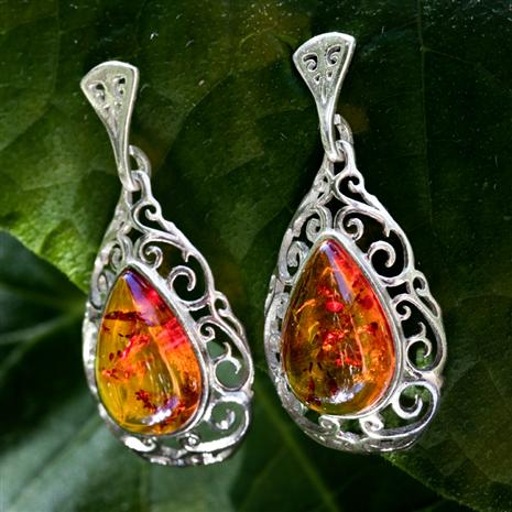 European Golden Amber EARRINGS