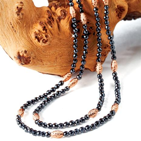 Ebony Agate Necklace Stauer Online Discount