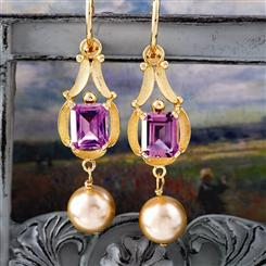 Amado Amethyst Earrings