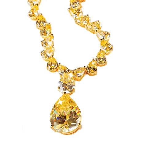 Canary DiamondAura® Coronation Necklace