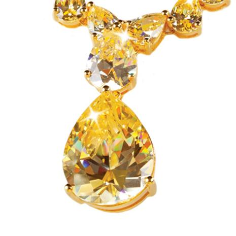 Canary Diamondaura Coronation Pendant Stauer Online Discount