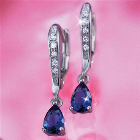 DiamondAura Casanova Sapphire Blue Earrings