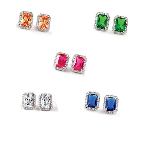 DiamondAura® Spectra Emerald-cut Earrings Collection
