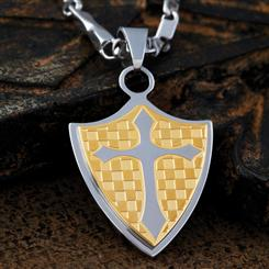 Mens Stainless Steel Chivalry Pendant
