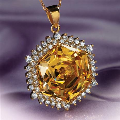 Castile Yellow DiamondAura® Pendant