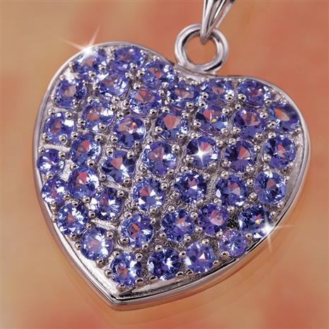 Rare Love Tanzanite Necklace