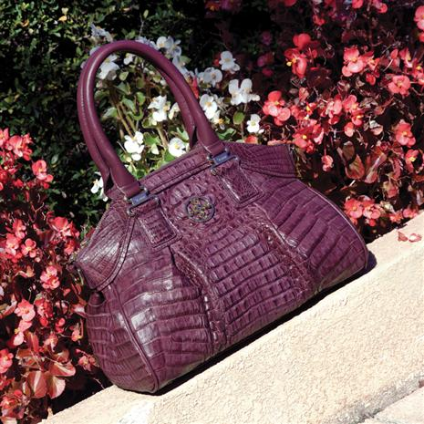 Genuine Crocodile Handbag (Purple)