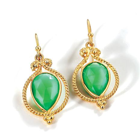 Alexandra Green Onyx Earrings