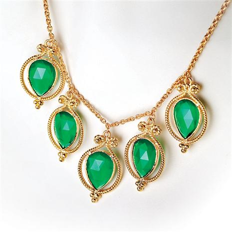 Alexandra Green Onyx Necklace