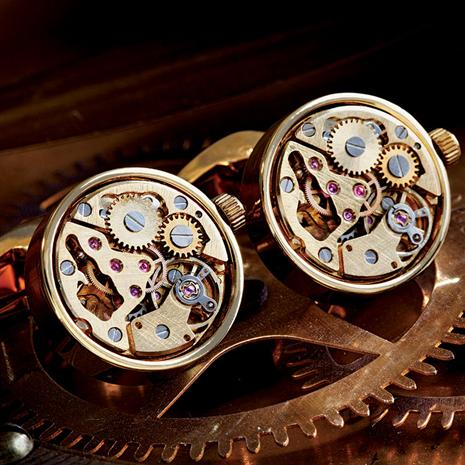 Meccanico Cufflinks (Gold)
