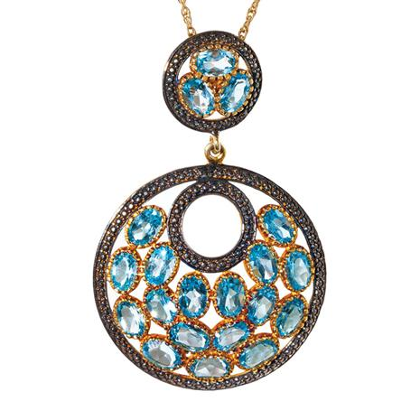 Sagara Blue Topaz Necklace