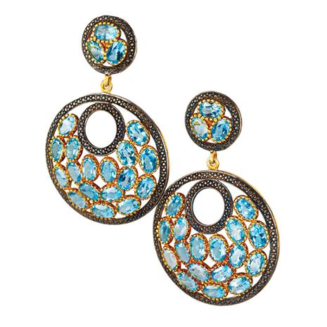 Sagara Blue Topaz Earrings