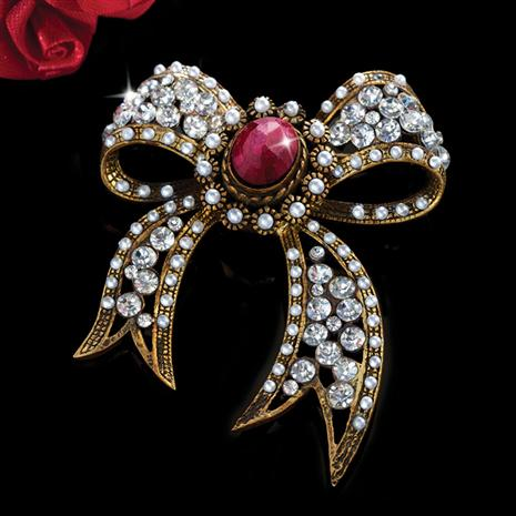 Baroque Ruby Brooch