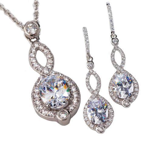 Sempre DiamondAura Necklace and Earrings Set