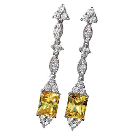 Cierto Canary DiamondAura® Earrings