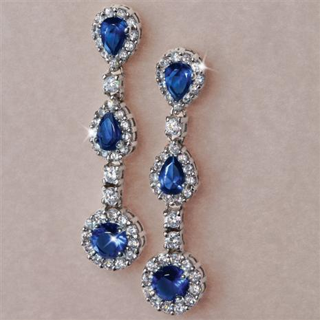 DiamondAura Bleu Drop Earrings