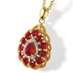 Fire & Ice Ruby and Diamond Necklace