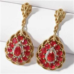 Fire & Ice Ruby and Diamond Earrings