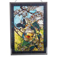 Stained Glass Louis Comfort Tiffany Parakeet