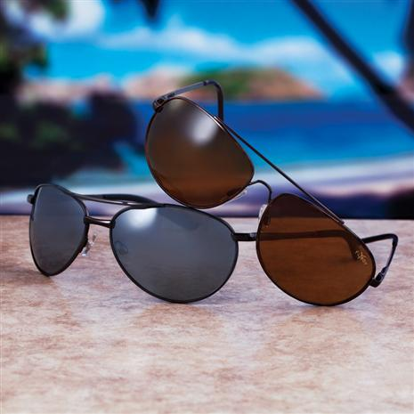 Black Flyboy & Copper Flyboy Sunglasses (Two pair)
