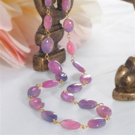 SPRING PINK SAPPHIRE NECKLACE