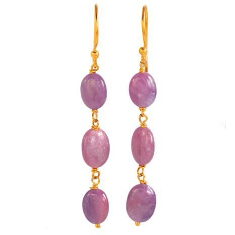 Spring Pink Sapphire Earrings