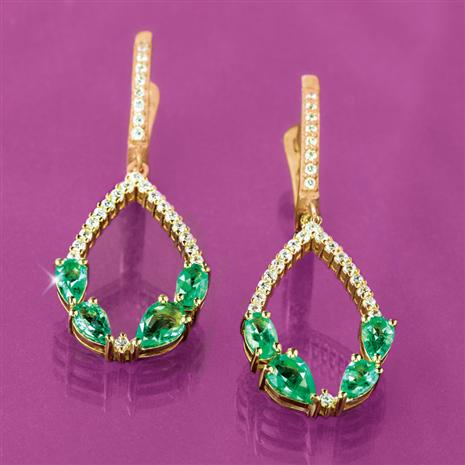 Pride of Zambia Emerald Earrings