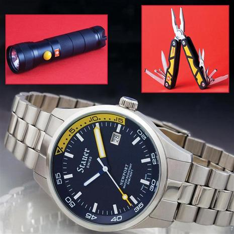 Newport Swiss Watch & Swiss LED Torch & Swiss Multi-Tool