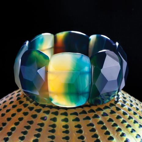 Big Blue Agate Bangle