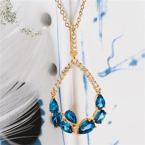 Rendezvous London Blue Topaz Necklace