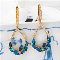 Rendezvous London Blue Topaz Earrings