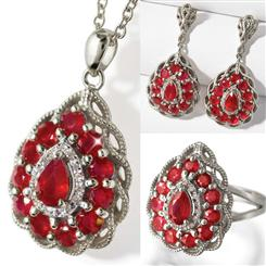 Fire & Ice Ruby and Diamond Sterling Silver Collection