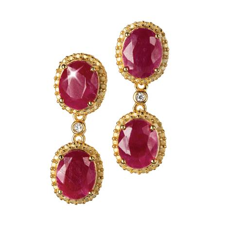 Mirasol Ruby Earrings