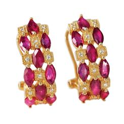 Tsonga Ruby Earrings