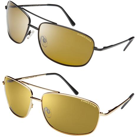 Eagle Eyes Navigator Black Sunglasses & FREE Navigator Gold Sunglasses