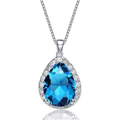 Blue Ice DiamondAura Pendant