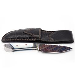 Mother of Pearl Damascus knife