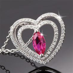 Amoretta Scienza® Ruby Heart Pendant