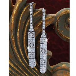After Midnight DiamondAura® Art Deco Earrings