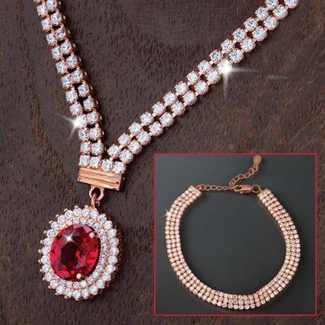 Hera DiamondAura Necklace & Bracelet Set