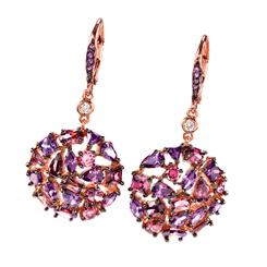 Vermilia Amethyst & DiamondAura® Earrings