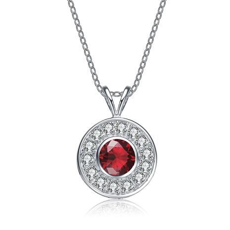 Majestic Ruby Red DiamondAura Pendant