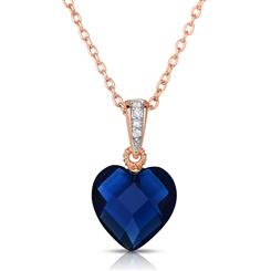 Rock of Love DiamondAura® Blue Heart Pendant