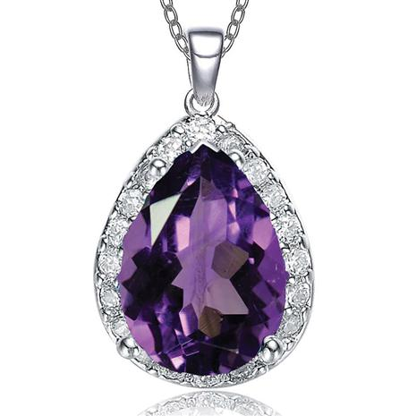 Purple DiamondAura® Paradise Pendant