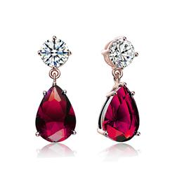 DiamondAura® Premier Red Earrings