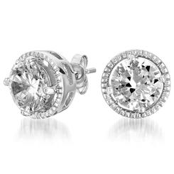 DiamondAura® Halo Earrings