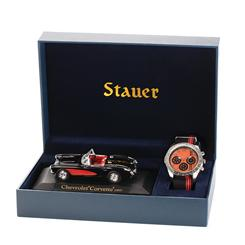 Stauer Speedway Watch & Corvette Gift Set