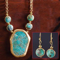 Cerrado Turquoise Necklace & Earrings Set